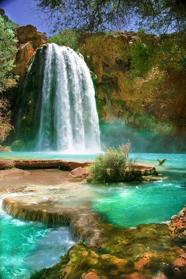 Havasu Falls in Havasu Creek, Arizona United States, GRAND CANYON