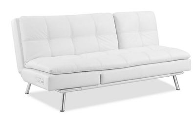 Palermo Convertible Sofa Bed Click Clack By Lifestyle Solutions Best Leather Sofa Convertible Sofa Bed Sofa Bed Design