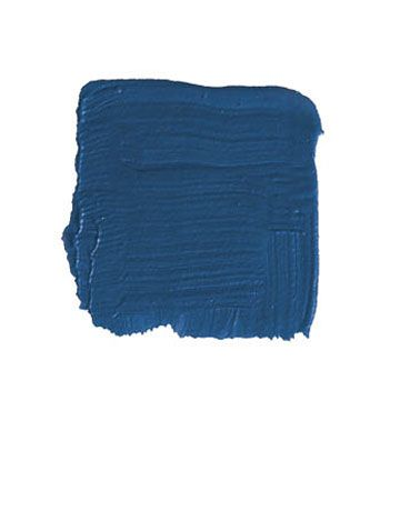 "BENJAMIN MOORE DARK ROYAL BLUE 2065-20: ""I'm mad about this dark inky blue, as it gives great vibrancy and depth to a wall — especially if you put a topcoat of good clear varnish over it. That's what we did in Rex Harrison's Manhattan apartment in this fabulous little dining alcove. The bookcases and walls were all Dark Royal Blue, varnished over, and then highlighted by vertical pilasters which were faux-tortoise-shelled and partially gilded. That adds a glitter that ties in with the ..."