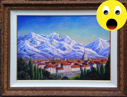#manythings This landmark painting was commissioned and created for the #2006 Winter Olympics held in #Torino, Italy, to represent the US Team.  This impressive o...