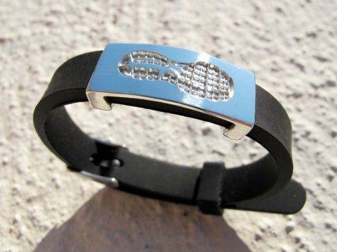 marathon running bracelet, silver by Vero Lázár, sport jewelry