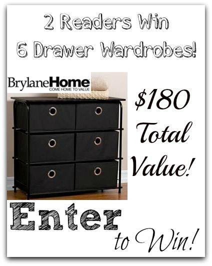 #Giveaway 2 Readers Win 6 Drawer Storage Wardrobes! Total Value $180!