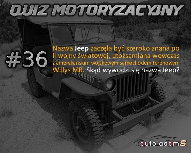 Weekendowy Quiz Motoryzacyjny mady by autoadams.com Czas sprawdzić swoją wiedzę Oto pytanie #36 #autoadams#auto#adam#s#samochody#motoryzacja#pasja#quiz#mechanik#Polska#lovecars#jeep#kierowca#Willys#MB#Warszawa#Szczecin#Katowice#Gdynia#Radom#Kielce#Gliwice#Olsztyn#Bytom#Rybnik#Tychy#Opole#Legnica