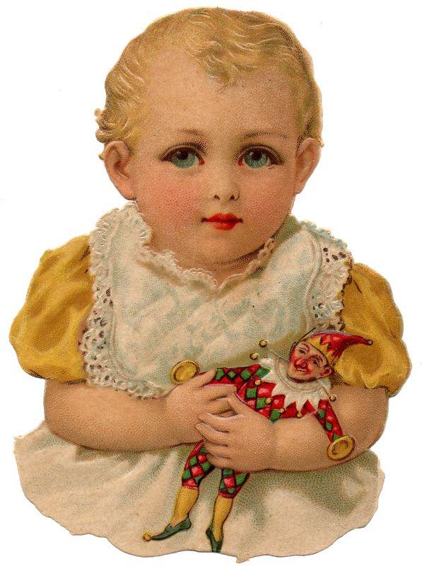 Beautiful Victorian Baby Vintage Scrap Piece.