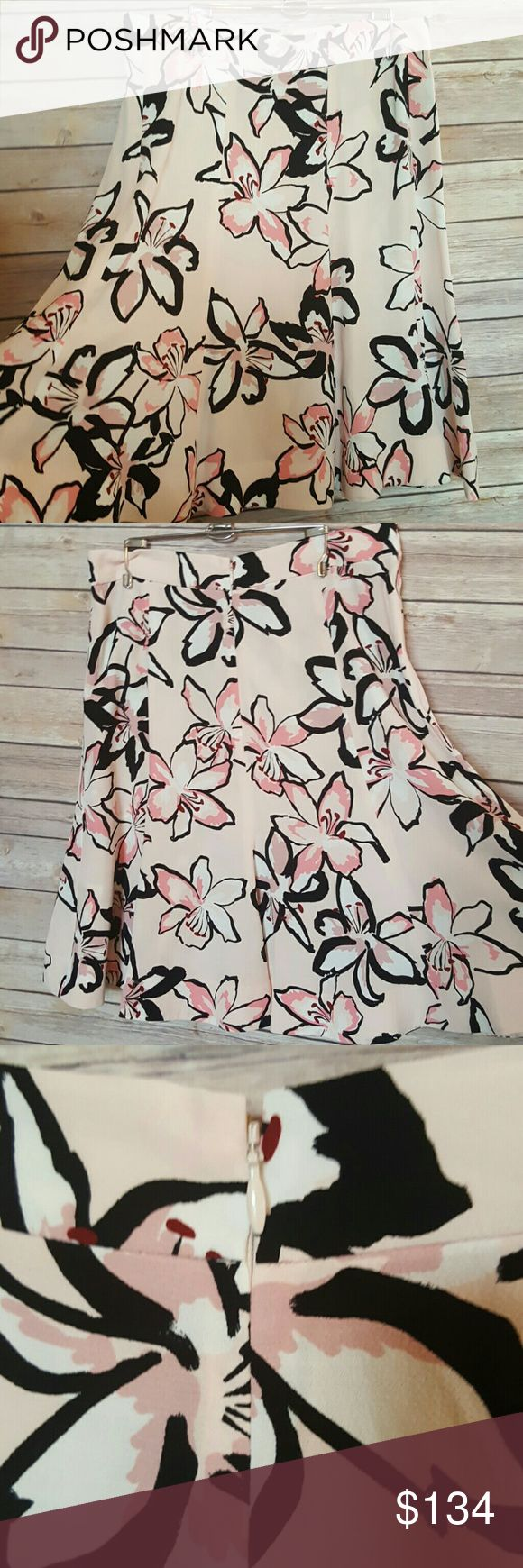 "NWT Kate Spade Tiger Lily Crepe Skirt A Line 10 NWT  Size 10 Tiger Lily Crepe Skirt Flights of Fancy Pink Floral pattern, perfect for spring Career, business, work, office attire or for a fun occasion. Not lined  100% viscose Waist 15.5"" flat - 31"" Length 23"" kate spade Skirts A-Line or Full"
