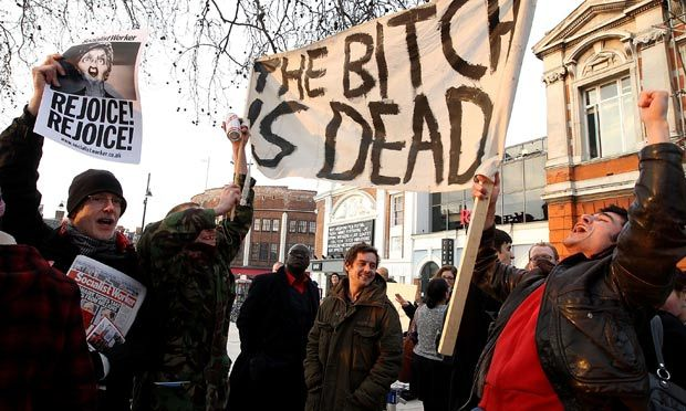 Margaret Thatcher's death greeted with street parties in Brixton and Glasgow