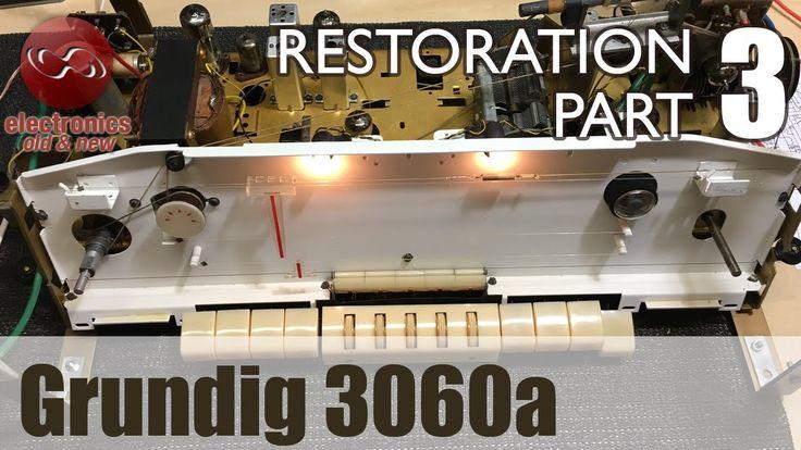 Grundig 3060a tube radio restoration - Part 3. Mechanical Nirvana, and f...