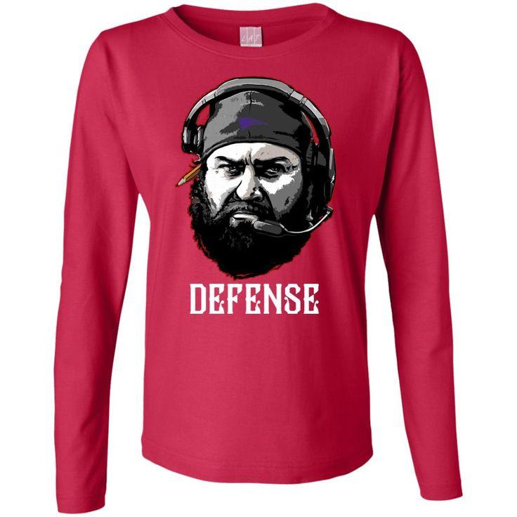 matt patricia defense t-shirt Ladies' Long Sleeve Cotton TShirt