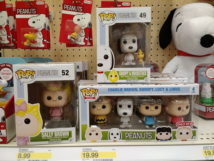 CollectPeanuts.com on Facebook - Weekend Peanuts finds at Target! Both Arlene and myself photographed the many new toys at Target this weekend including plushes animated plushes beanie plushes POP Peanuts toy figurines playsets Schleich figurines back-to-school gear and an exclusive DVD. Whew!  Stay tuned for video of the Happy Dance Snoopy!