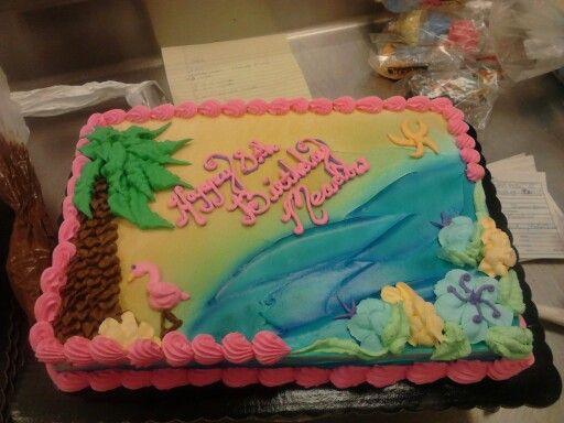 Hawaiian Inspired Sheet Cake Whipped Frosting Cake