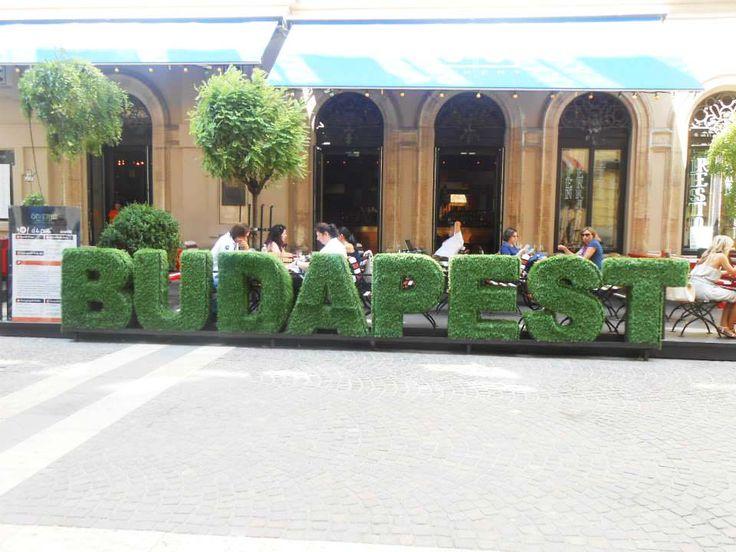 Decorative #Budapest signage