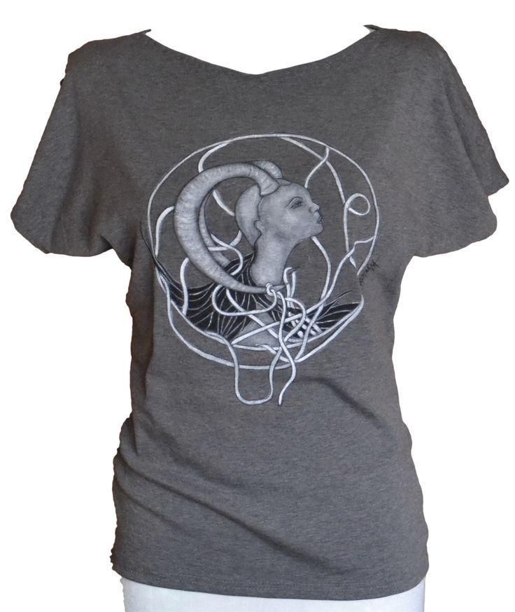 Malowane na koszulce- Koziorożec