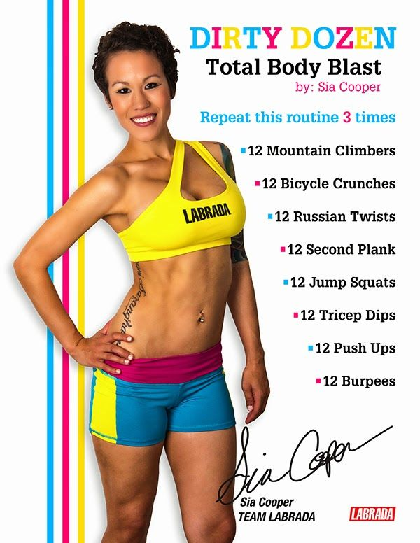 Diary of a Fit Mommy: Dirty Dozen Total Body Blast Workout
