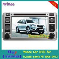 Free Shipping 2015 Top Car Styling Wince Car DVD Radio Audio For Hyundai Santa FE 2006-2012 With GPS Navigation BT Free Map