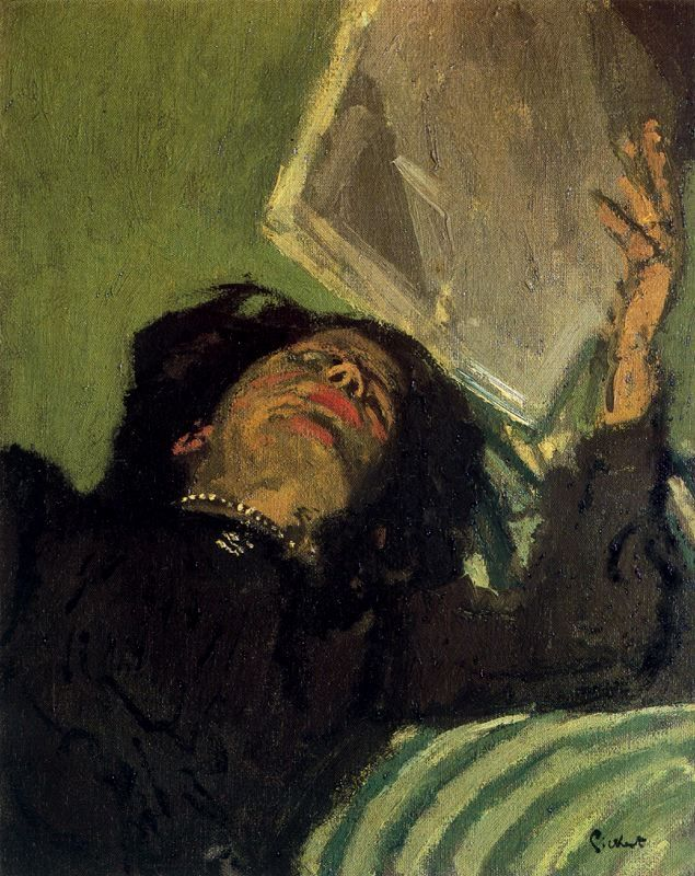Walter Richard Sickert - What a pretty necklace I gave her (1860-1942) Camden Town Group Painter