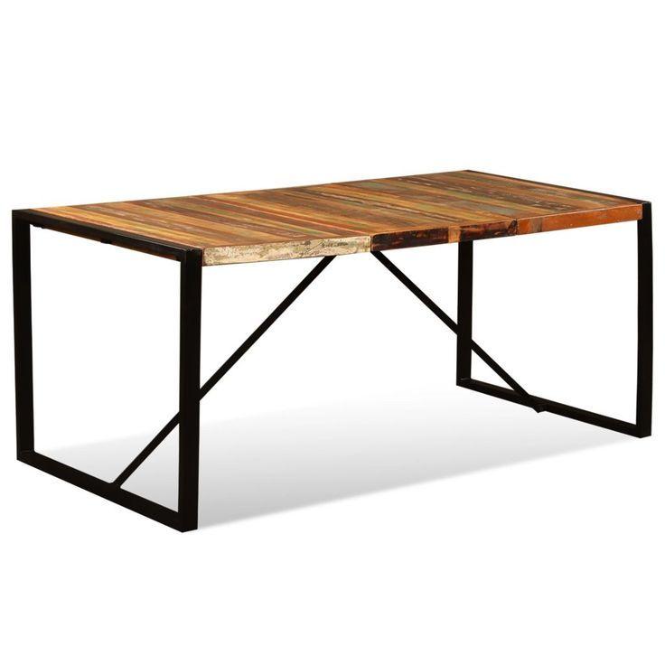 Industrial Style Esstisch Recyclingholz 180 cm | Esstisch