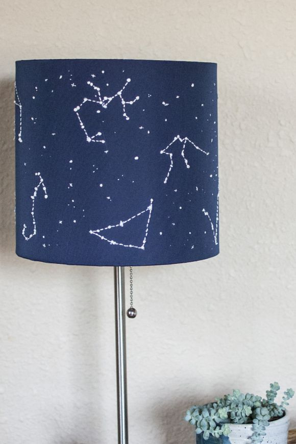 diy constellation star lamp shade embroidering tissue. Black Bedroom Furniture Sets. Home Design Ideas