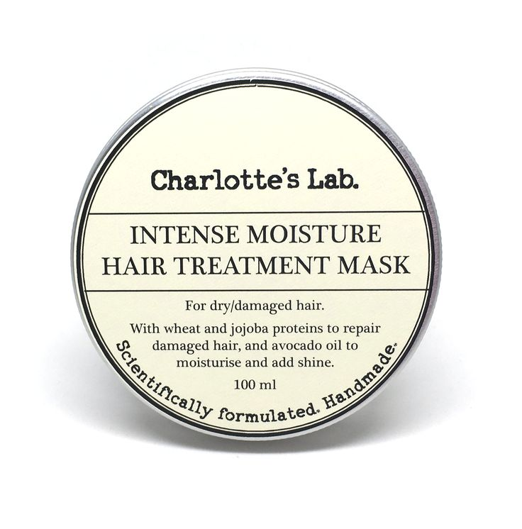Intense Moisture Hair Treatment Mask - hair conditioner mask for dry hair damaged hair with wheat and jojoba proteins handmade by Charlotte's Lab made in Australia.