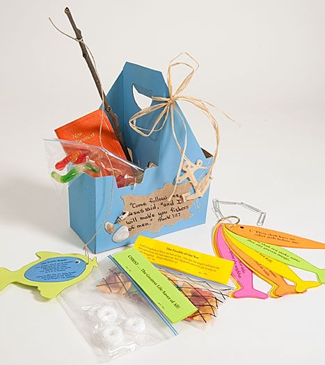 Fishers Of Men Tackle Box Bible Craft at Christian Games and Crafts
