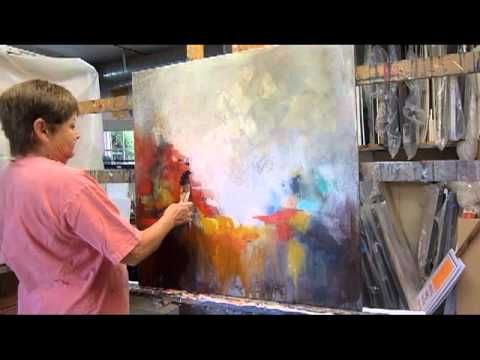 "▶ Abstract Painting Demo #2 - ""Inhabited Space"" - YouTube"