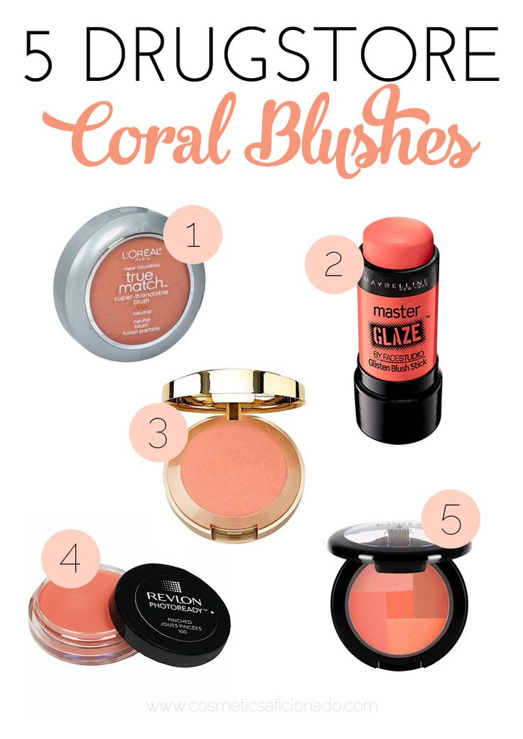 5 Drugstore Coral Blushes to get you through spring and summer