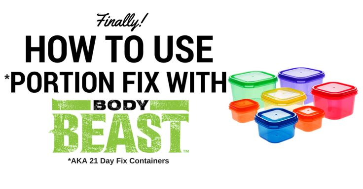 The UPDATED Body Beast nutrition plan now aligns with the 21 Day Fix container system!