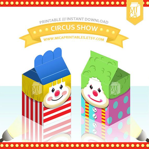 Circus Clowns Show DIY CPrintable Party by MicaPrintables
