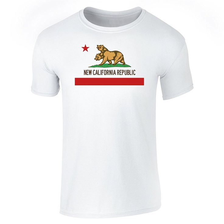 >> Click to Buy << Gildan Men's T-shirt New California Republic Flag Round Neck Teenage Pop Top Tee #Affiliate