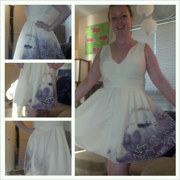 #twelfthletterapperel Graffiti summer/party dress. Custom bodice top I drafted :)