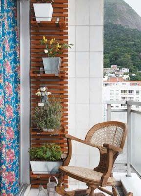 Fabi Valle: Aproveitando a varanda do apartamento