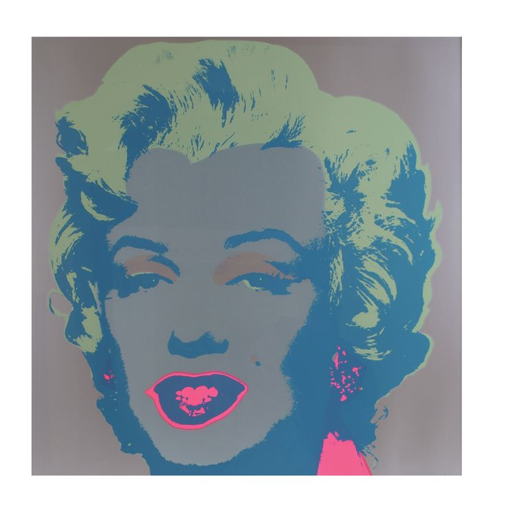 """Andy Warhol - """"Marylin"""", Sunday B. Morning limited edition. Colour: silver."""