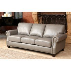 Samu0027s Club   Restoration Full Grain Vintage Leather Craftsman Sectional Sofa