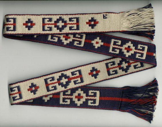 Mapuche sash in doubleweave