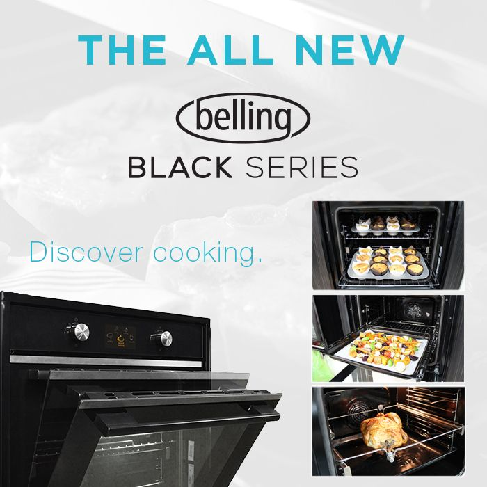 Discover cooking with soft close doors, family-sized capacity, 'push & lift' removable inner door glass and a 3-year domestic warranty in the all new Belling Black Series.