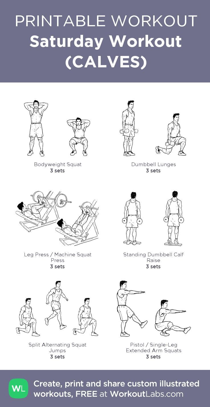 Saturday Workout (CALVES): my visual 45min workout
