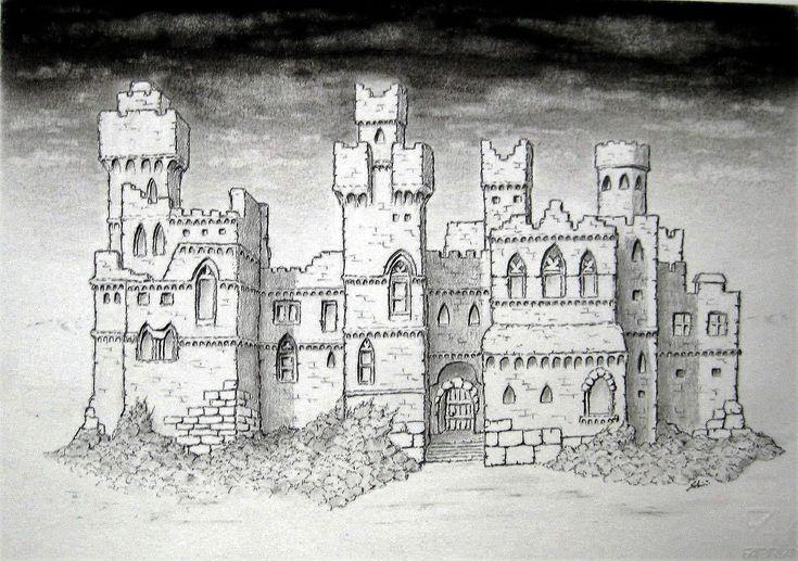 Disegno a matita_Castello scozzese_Maurizio Santini