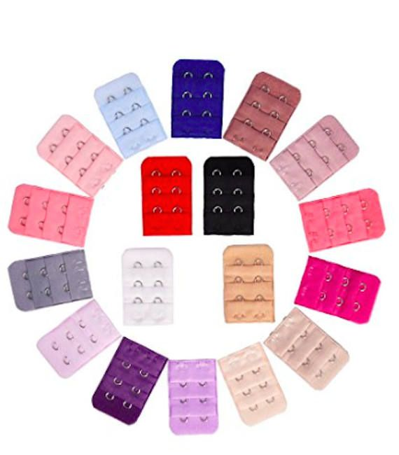 18 Pieces 18 Colors Bra Strap Extender Bra Extension Straps 3