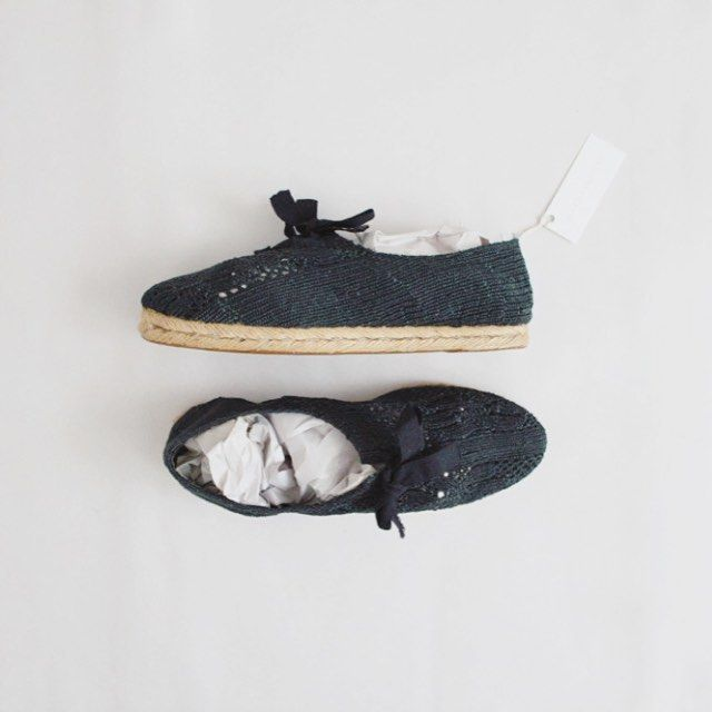Now available; #vintage darkest green espadrille sneakers | lucky size 7!