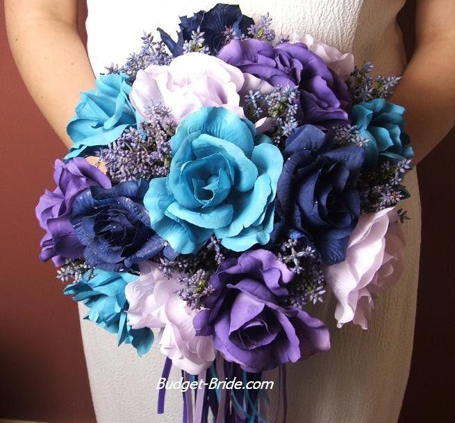 Turquoise Pool Blue Wedding Flowers