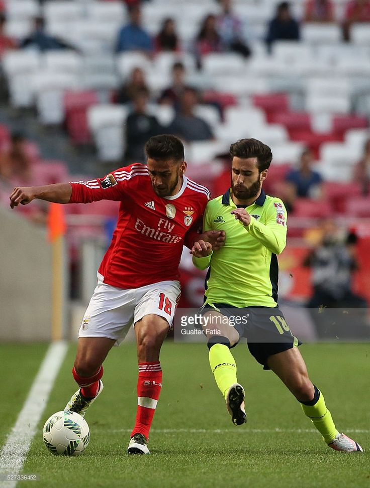 SL Benfica's midfielder from Argentina Salvio (L) with SC Braga's forward Rafa Silva (R) in action during the Taca CTT match between SL Benfica and SC Braga at Estadio da Luz on May 2, 2016 in Lisbon, Portugal.