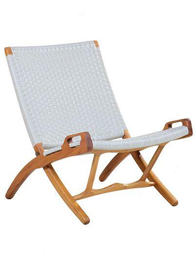 Roxy Folding Chair. Classic Danish Design Made Of Teak Wood.