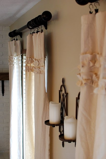 Ruffled curtains #nursery #girlGuest Room, Spare Bedrooms, Candles Holders, Living Room, Girls Room, Nurseries Girls, Curtains Nurseries, Bedrooms Windows, Ruffles Curtains
