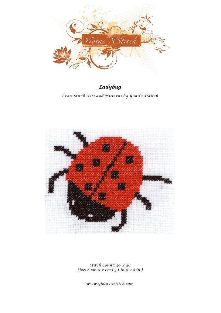 Ladybug - Free cross stitch pattern by yiotasxstitch via slideshare