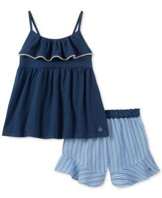 ca64565e82 2-Pc. Tank Top | clearance clothes 0-24M baby girl | Calvin klein 2 ...