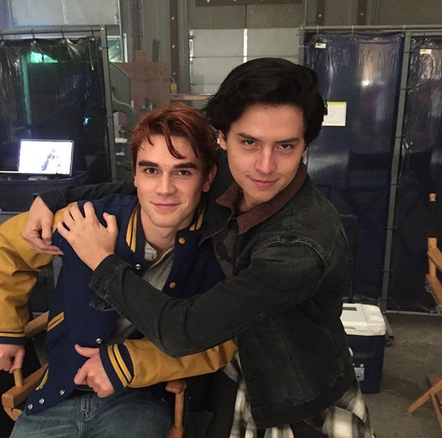 Archie and Jughead -- @kjapa @colesprouse back together again in Vancouver! #riverdale #heartthrobs @archiecomics @thecwriverdale
