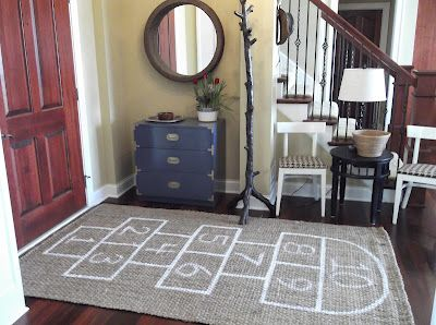 I believe your house should reflect who you are. My house is full of kids and fun. I LOVE this simple DIY rug!