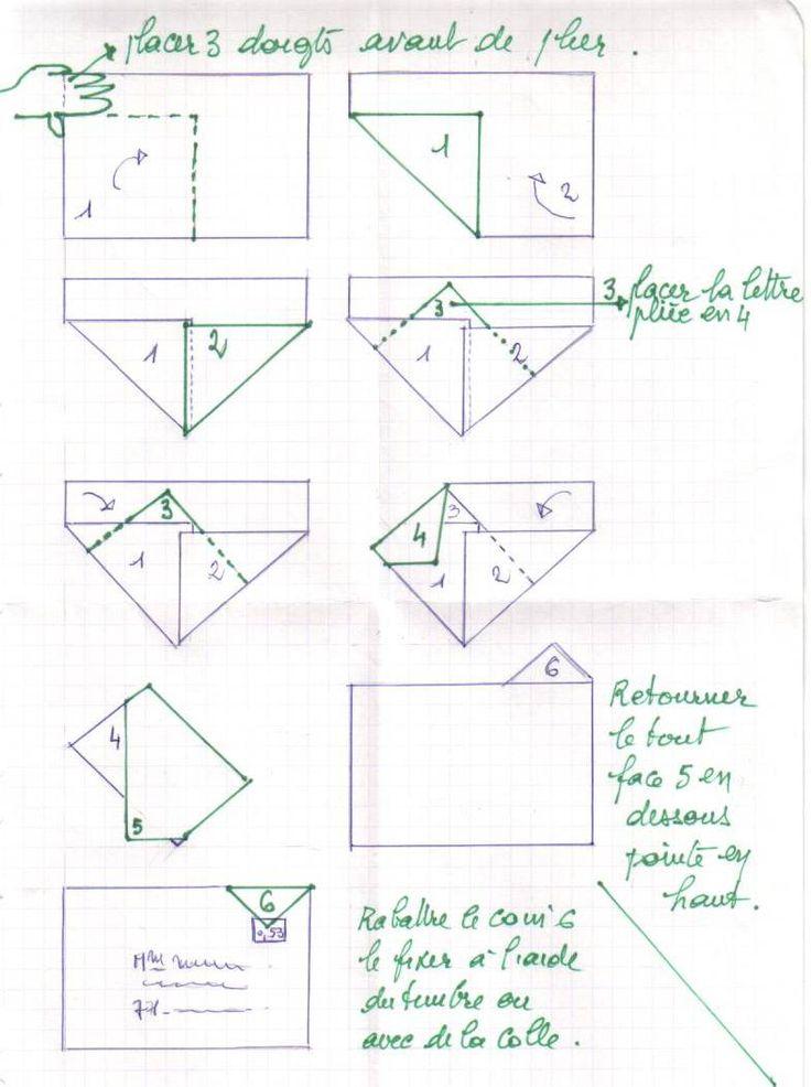enveloppe pliage a4 sans découpe, another way to fold an envelope