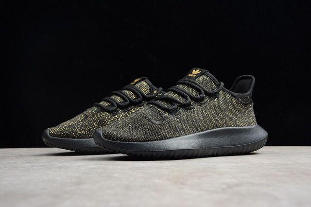 Adidas Originals Tubular Shadow Core Black Gold Running Shoes AC8424 ... 2cfe8c60426f