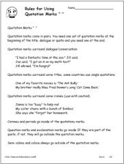 essay quotation marks