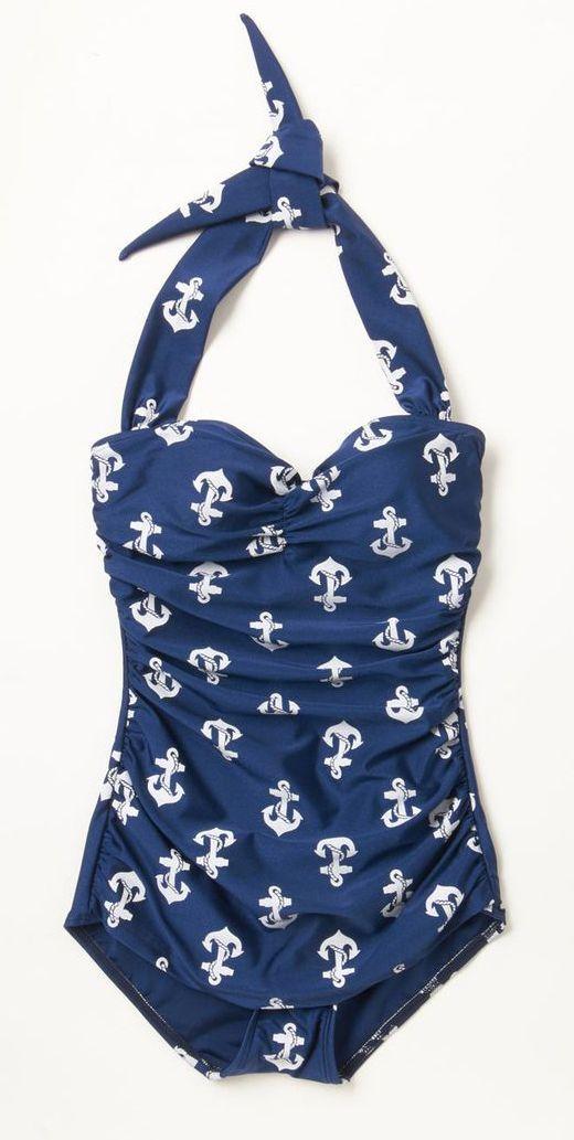 Nautical One Piece Swimsuit